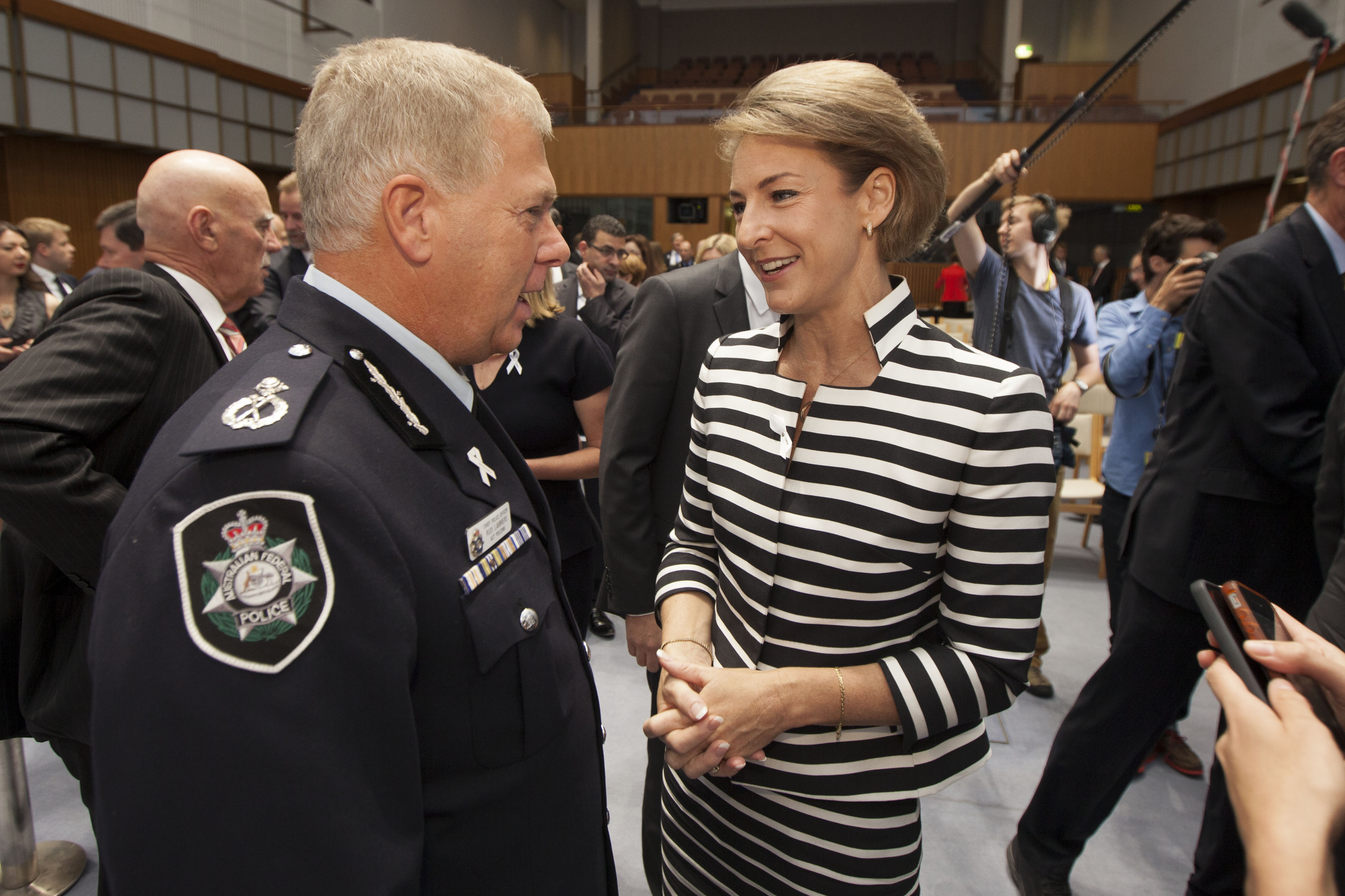 Australian and New Zealand Police Commissioners Stand Together Against Violence on Women and Children - Photo