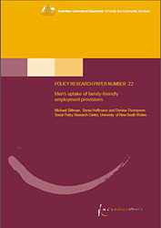 Cover of Number 22: Men's uptake of family-friendly employment provisions