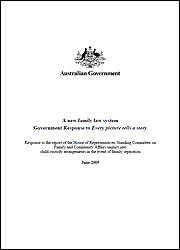 A new family law system: Government Response to Every picture tells a story