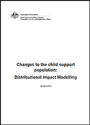 Changes to the child support population: Distributional Impact Modelling