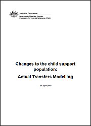 Changes to the child support population: Actual Transfers Modelling