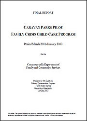 Caravan Parks Pilot: Family Crisis Child Care Program
