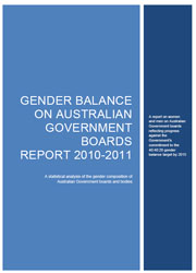 Gender Balance on Australian Government Boards Report