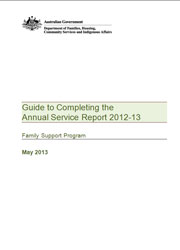 Guide to Completing the Annual Service Report 2012-13 Cover Image