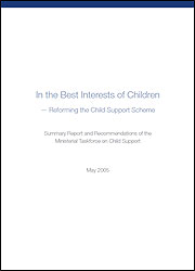 In the Best Interests of Children - Reforming the Child Support Scheme Summary Report cover image