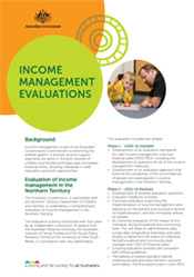 Income Management Evaluations Cover Image