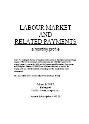 Labour Market and Related Payments March 2012 cover image