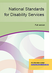 New National Standards for Disability Services Print versionPage One