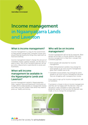 document cover image for income management factsheet