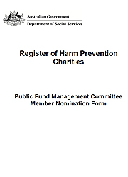 Public Fund Management Committee Nomination Form page one