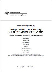 Number 25: Stronger Families in Australia study: the impact of Communities for Children