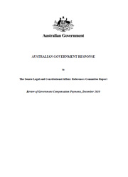 Australian Government Response to the Senate Legal and Constitutional Affairs References Committee Report - Review of Governmen