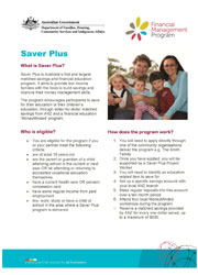 Saver Plus Fact Sheet Cover Image