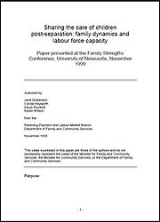 Sharing the care of children post-separation: family dynamics and labour force capacity