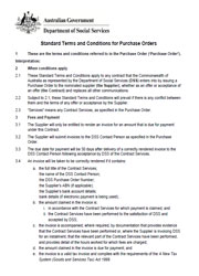 Standard Terms and Conditions for Purchase Orders Page One
