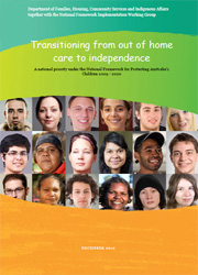 Transitioning to independence from out of home care - Discussion Paper