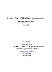 Updated Costs of Children Using Australian Budget Standards cover image