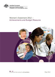 Women's Statement 2012 – Achievements and Budget Measures