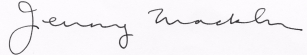 The Hon. Jenny Macklin, MP signature