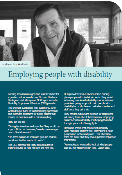 Employing people with disability cover image