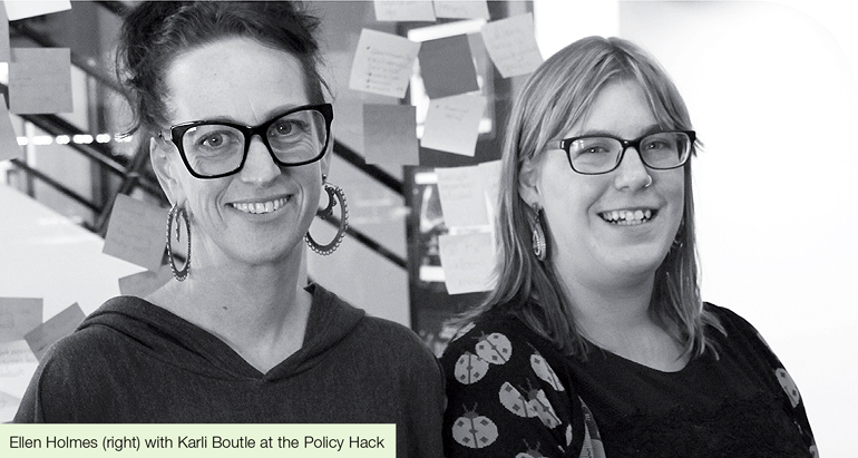 Try, Test and Learn Fund, Ellen Holmes and Karlie Boutle at the Policy Hack