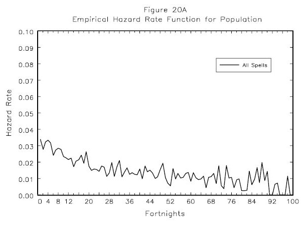 Figure 20A: Empirical Hazard Rate Function for Population