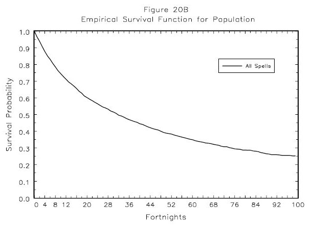 Figure 20B: Empirical Survival Function for Population