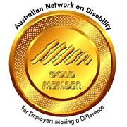 Image of the Australian Network on Disability Gold membership logo.