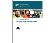 Information for supported employees about the 2014 decision by the Australian Human Rights Commission cover image