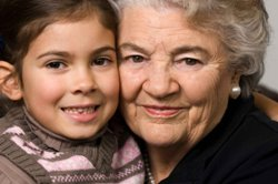 image of older lady and child