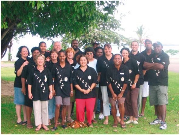 The research teams in training on Thursday Island, May 2005