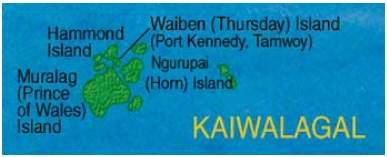 Map of Kaiwalagal (inner islands)