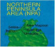 Map of Northern Peninsula Area