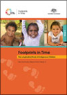 Cover of a publication called 'Footprints in Time Key Summary Report from Wave 2'