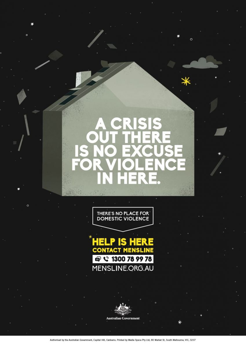 A crisis out there is no excuse for violence in here (Mensline)