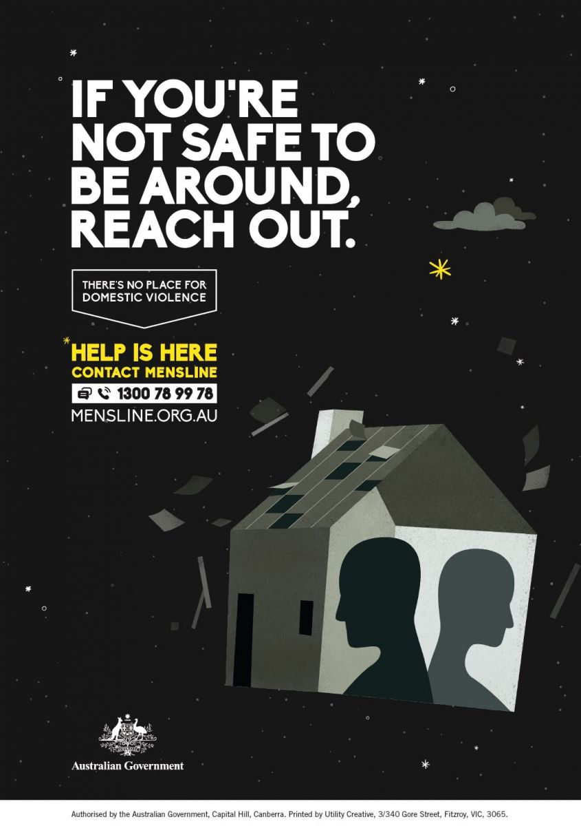 If you're not safe to be around, reach out (Mensline)