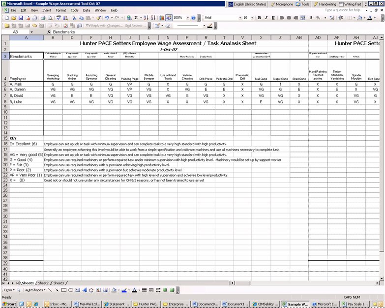 Analysis of Wage Assessment Tools used by Business Services – Competency Assessment Template