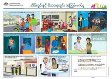 Burmese translated Family Safety Pack documents cover image