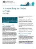 Cover of More funding for carers services