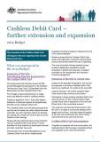 Cover of Cashless Debit Card – further extension and expansion