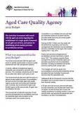 Aged Care Quality Agency - Cover image