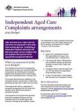 Independent Aged Care Complaints arrangements - Cover image