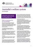 Australia's welfare system - Cover image