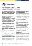 Cashless Debit Card - Information for businesses cover image