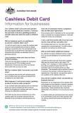 Cashless Debit Card - Information for businesses cover image