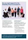 Disability Royal Commission Support Services fact sheet cover image