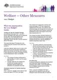 Cover of Welfare – Other Measures