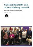 Cover of The National Disability and Carers Advisory Council - A message from the second meeting Easy Read version