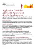 Cover of Application Guide for ABSTUDY Approval of Scholarship Programs