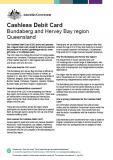 Cashless Debit Card - Bundaberg and Hervey Bay Factsheet cover image